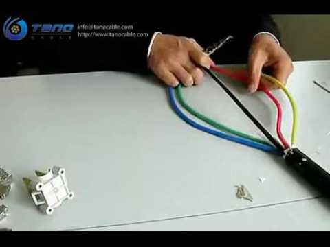 The installation of the cable T joint terminal demonstration - TANO