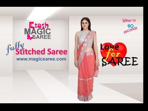 How to wear Magic Saree - Raadiant Pink Magic Saree