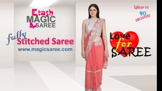 How to wear Magic Saree - Raadiant Pink Magic Saree
