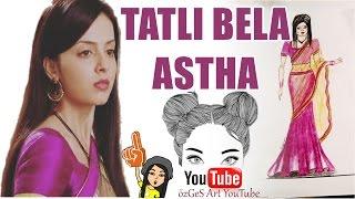 vuclip TATLI BELA  Dizisi Astha Hint Kıyafeti Çizimi. How to draw Indian Dress