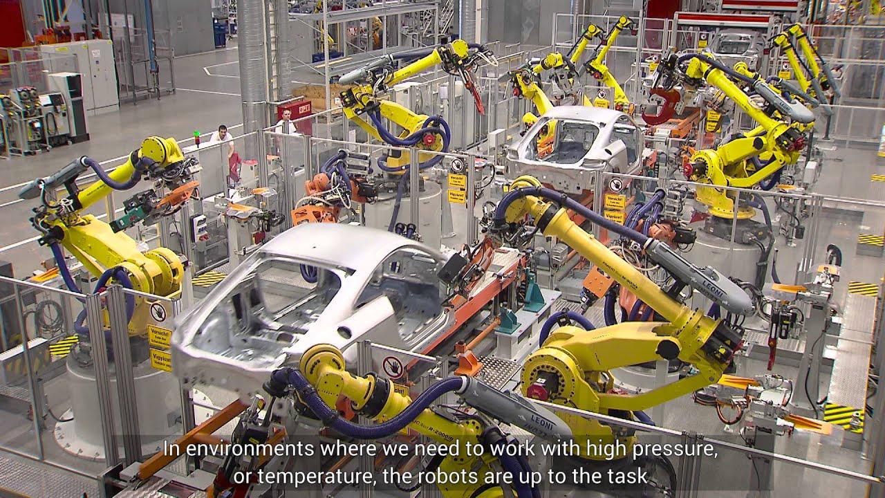 Fanuc Ipari Robotok Az Audi Hungari 225 N 225 L Youtube