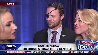 Dan Crenshaw addresses Pete Davidson's panned 'SNL' joke during victory speech