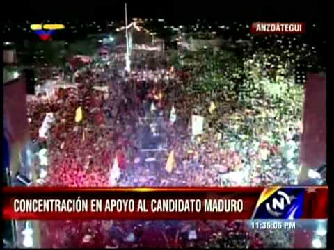 Conmovedor acto de Nicolás Maduro en Anzoátegui (mejor calidad)