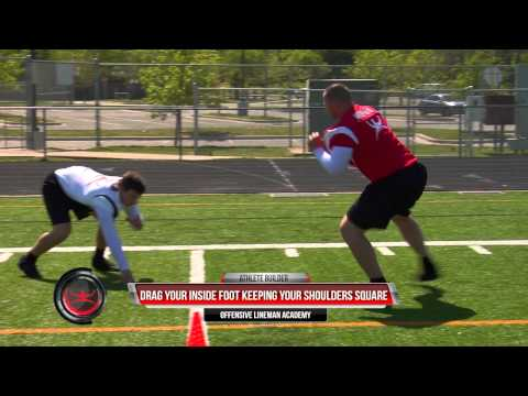 Offensive Line Academy - Man Pass Protection - Wide Rusher Kick Slide