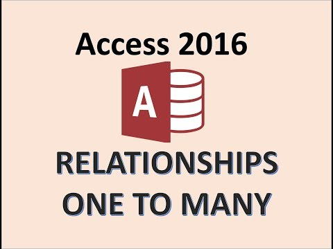 microsoft access 2013 many to relationship