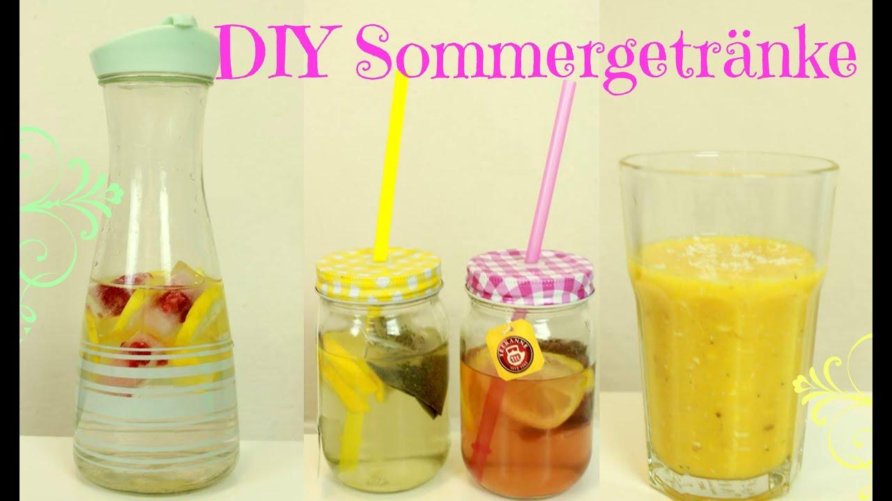 DIY Sommergetränke | gesund und einfach - YouTube
