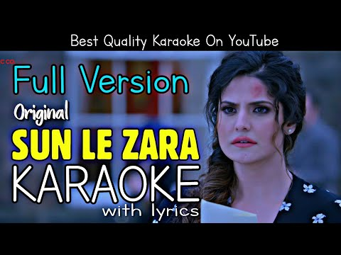Sun Le Zara (1921) - Full Karaoke | With Lyrics | Zareen Khan
