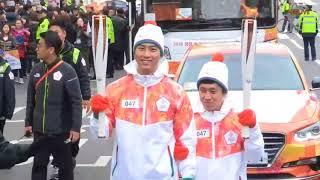 180304 Taecyeon at Pyeongchang 2018 Paralympic Games Torch Relay