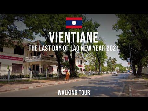 Walking around Vientiane Downtown during Lao New Year   ຍ່າງເລາະຕົວເມືອງວຽງຈັນໃນຊ່ວງປີໃໝ່ລາວ