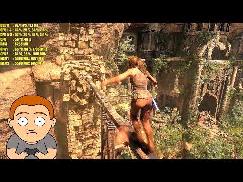 Rise Of The Tomb Raider GTX 1080 TI SLI 4K Very High Frame Rate Performance Test