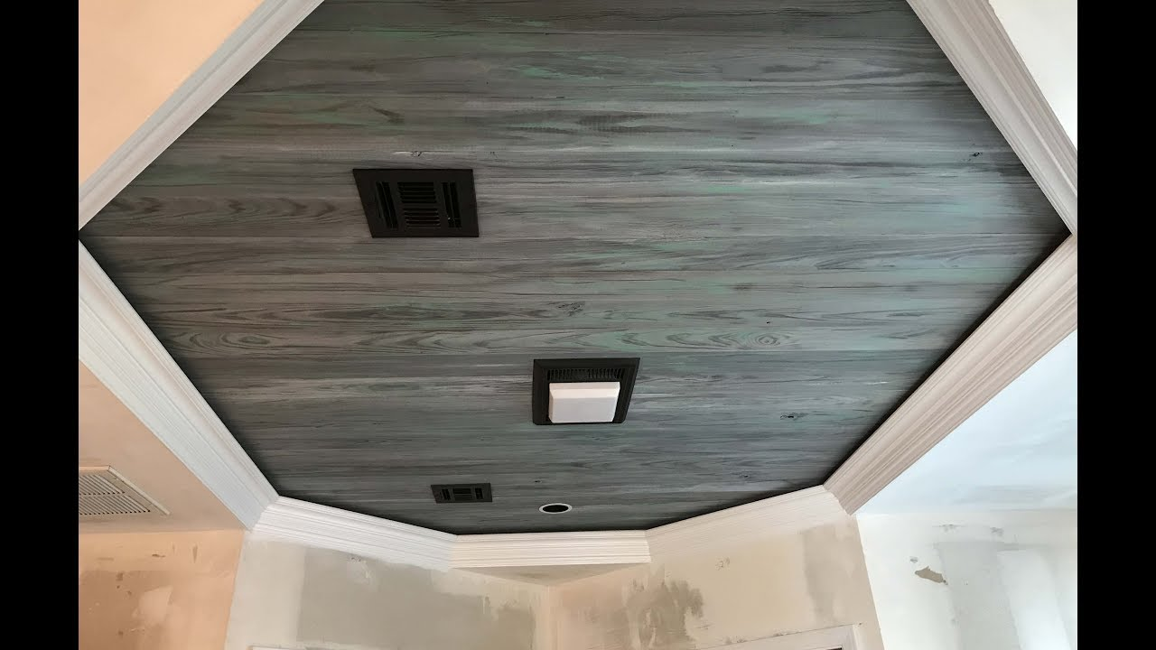 Shiplap ceiling images Shiplap tray ceiling