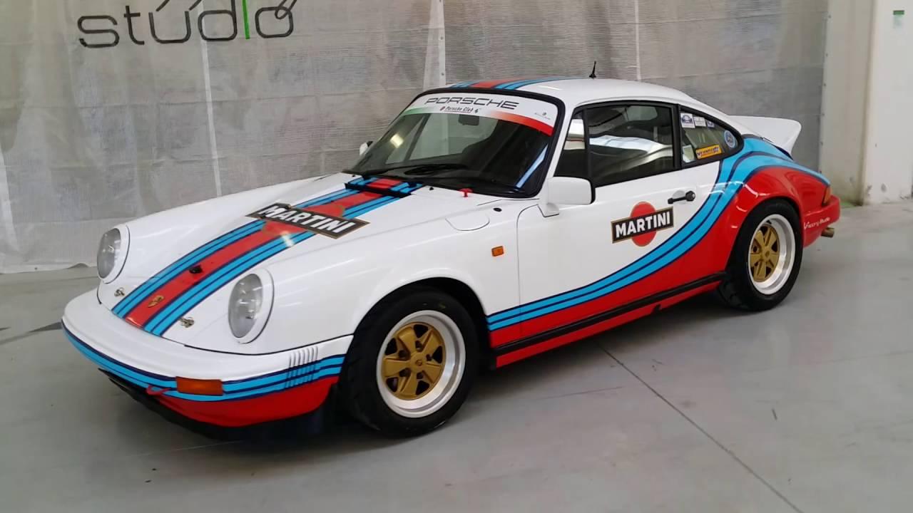 Porsche 911 Sc >> Porsche 911 SC - Car Wrapping replica Martini - YouTube