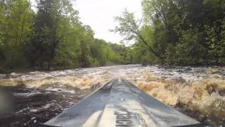 Kayaking Peshtigo River Michigan Rapids