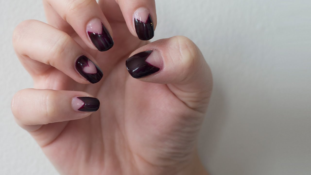 Negative space nails tutorial - YouTube