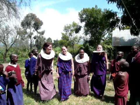 KATz Volunteers in Tanzania Traditional Dress