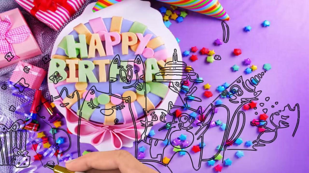 Открытка на день рождения интерактивная открытка
