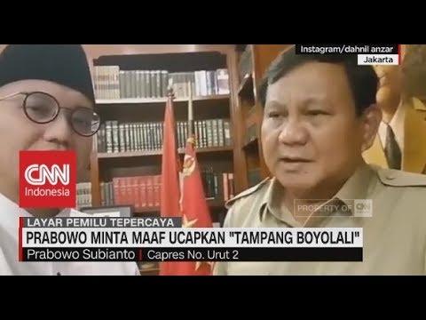 Prabowo Minta Maaf ucapkan 'Tampang Boyolali' Mp3