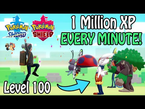 *NEW* FASTEST Way To Level 100 In Pokemon Sword & Shield! | 1 Million XP EVERY Minute! (BEST Guide)
