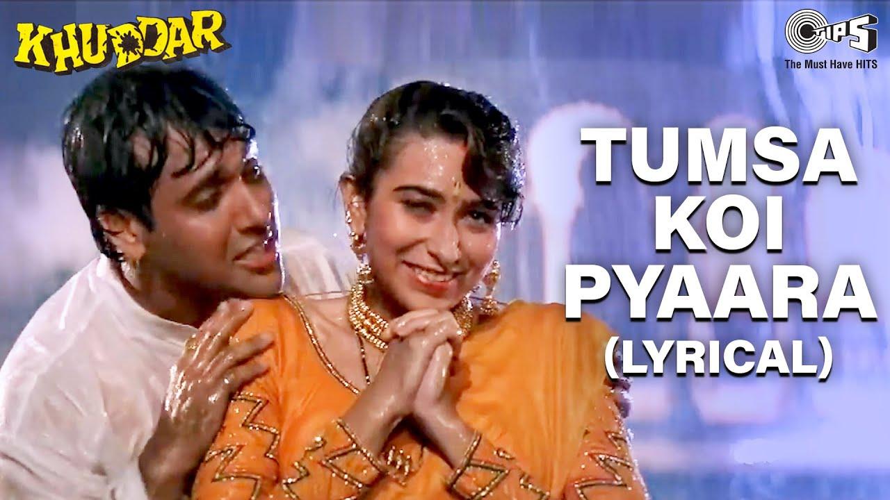 Tumsa Koi Pyaara - Lyrical | Govinda | Karisma Kapoor | Alka Yagnik | Kumar Sanu | 90's Love Song