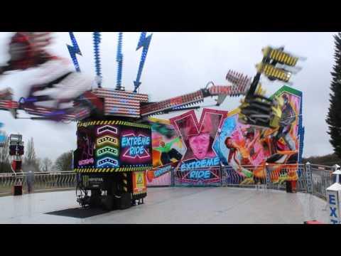 William Danters Extreme ride at Cwmbran Funfair 2017 Billy Danter Operating