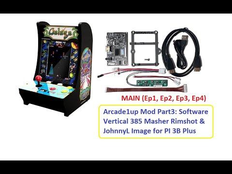 Arcade1up Galaga Mod Part3 Vertical 385 masher Pi Image from Johnny Liu