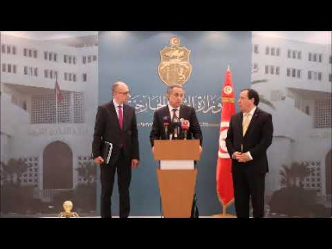 وزير الشؤون الخارجية خميّس الجهيناوي يستقبل نائب رئيس الحكومة الروسية