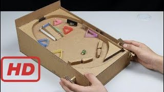 Cómo Hacer Una Máquina De Pinball Con Cartón En Casa Youtube