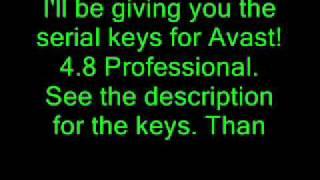 Avast! 4.8 Professional Lifetime serial keys