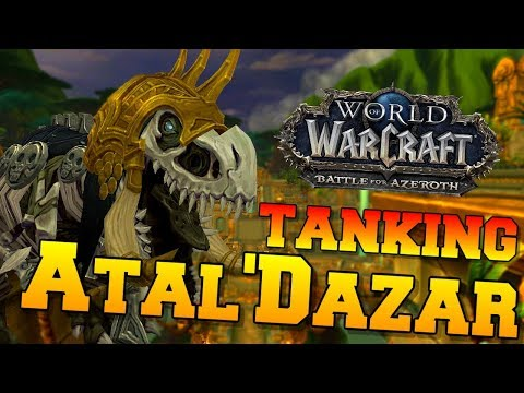 Tanking Atal'Dazar as Blood Death Knight | New BFA Dungeon | World of Warcraft Battle for Azeroth
