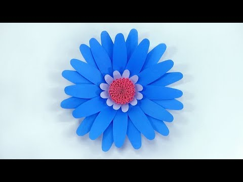 How To Make Big Paper Flower for Wedding Backdrop | Giant Flower Template | Decoration With Paper
