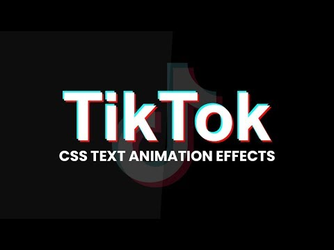 CSS TikTok Text Animation Effects | CSS Animation