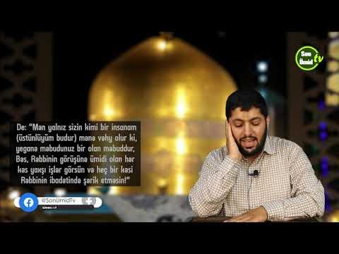 əl-Kəhf surəsi 107-110 Hacı Rahib