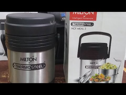 Milton ThermoSteel Hot Meal 3 : Feature and Live Review (Hindi) (Live Video)