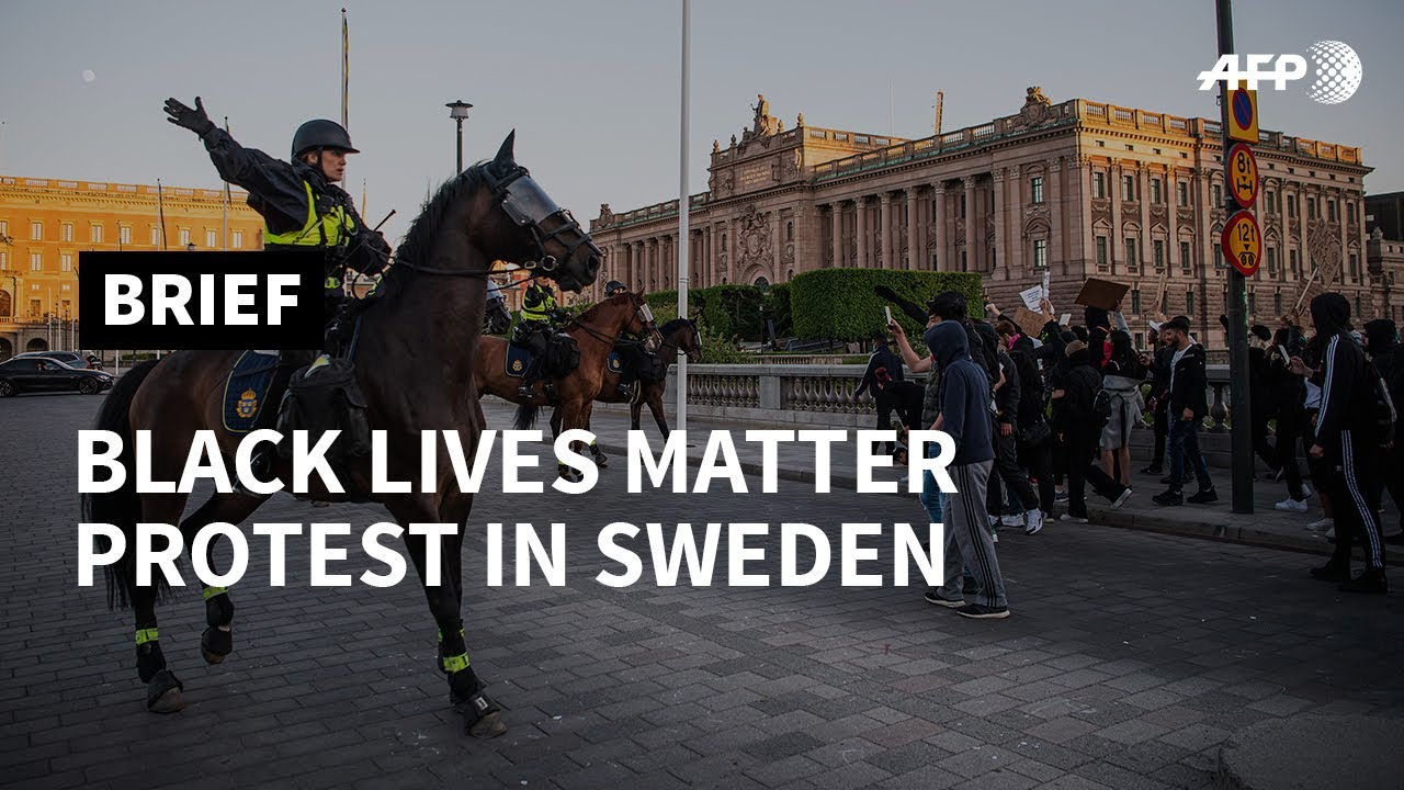 Police use pepper spray at Black Lives Matter protesters in Sweden | AFP