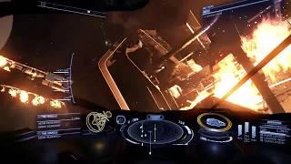 Elite Dangerous: Oracle station damage