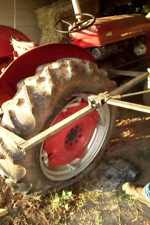 Tractor tire bead breaker part youtube
