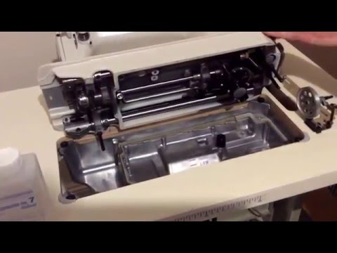 How to assemble a Juki DDL 8100e industrial sewing machine onto the bench correctly