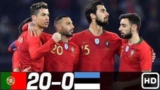 Португалия Эстония 20 0 Обзор Контрольных Матчей 10 11 1993 08 06 2016 HD