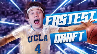 FASTEST PLAYERS DRAFT! - NBA 2K16 DRAFT