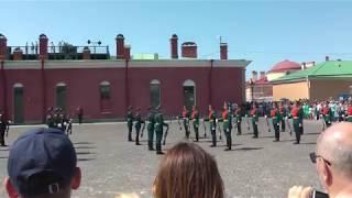 Церемонии развода почётного караула в Петропавловской крепости 8 06 2019г