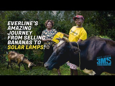 From selling bananas to solar lamps - incredible story!