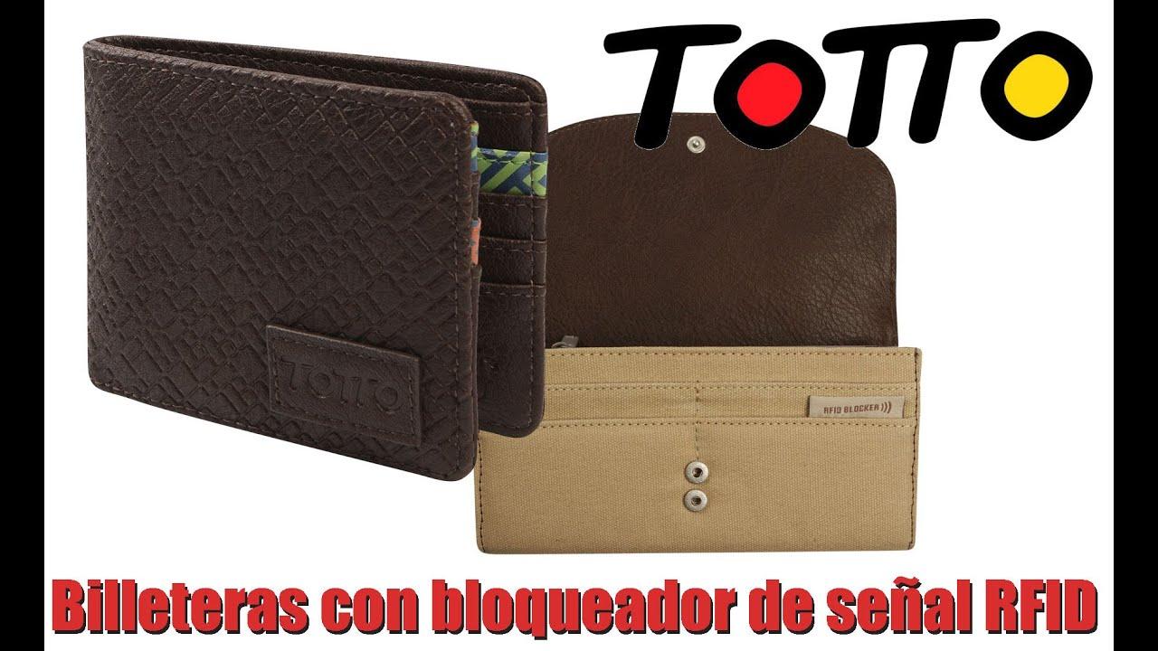 nuevo producto 1ee5d 5e32a Billeteras Totto con bloqueador de señal RFID