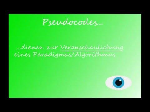 Pseudocode Grundlagen
