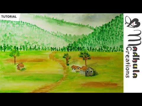 Easy Watercolour Landscape Tutorial for Beginners