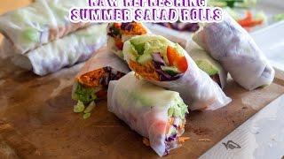 Raw Refreshing Summer Salad Rolls