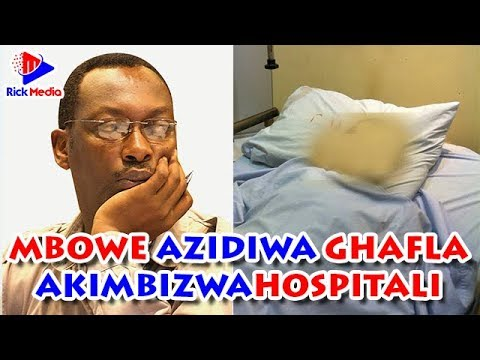MBOWE AZIDIWA GHAFLA, AKIMBIZWA HOSPITALI KCMC