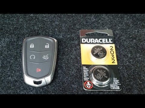 Cadillac Key Fob Battery Replacement 2014-2018 (Keyless Remote ATS)