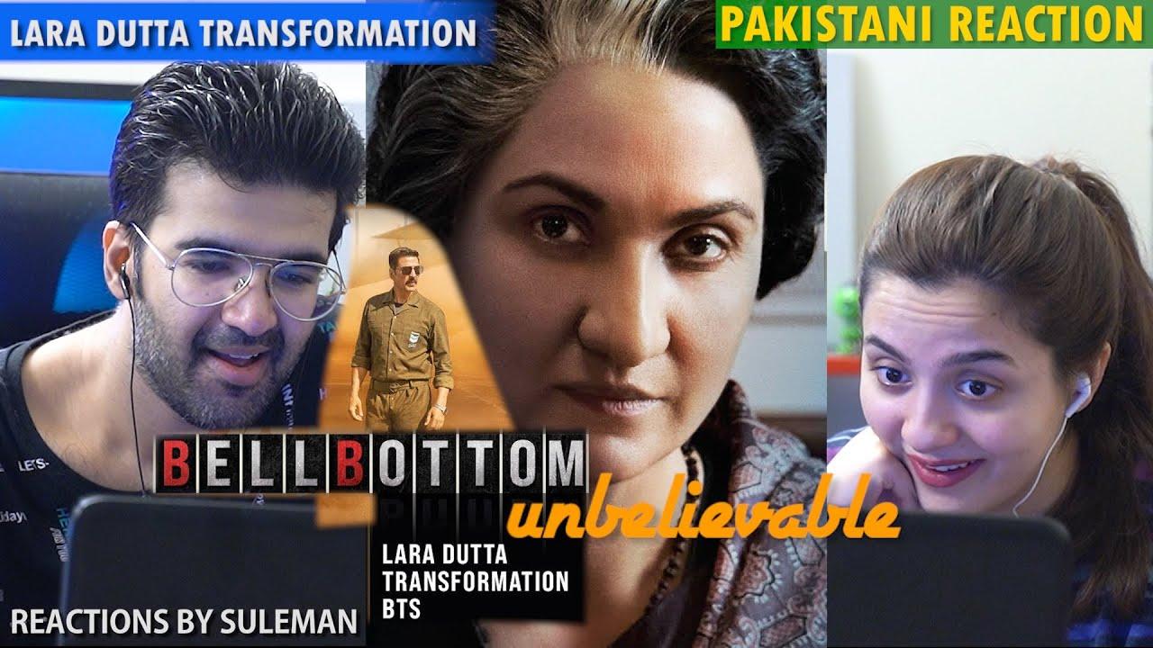 Pakistani Couple Reacts To Bellbottom   Lara Dutta Transformation BTS   Akshay Kumar   Vaani
