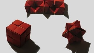 Origami 'double Star Flexicube' By David Brill (part 1 Of 3)