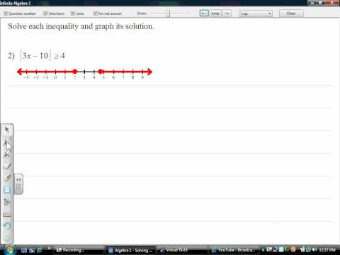 Solving and Graphing Absolute Value Ineq.wmv
